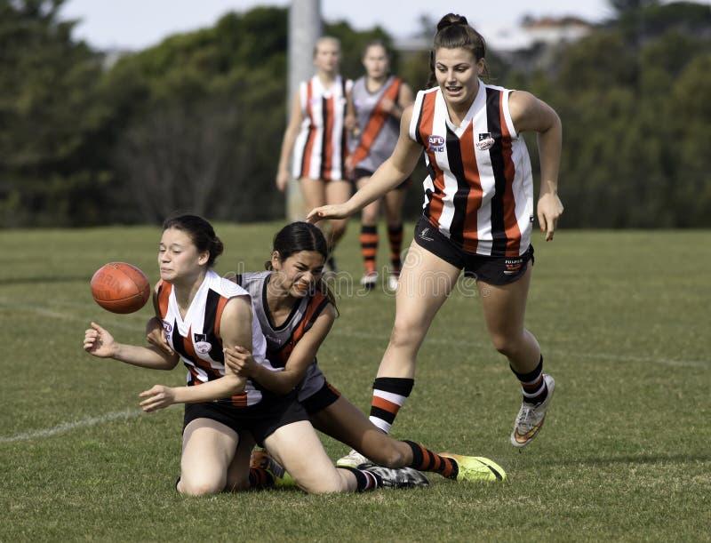 Jugadores femeninos de AFL, Sydney fotos de archivo libres de regalías