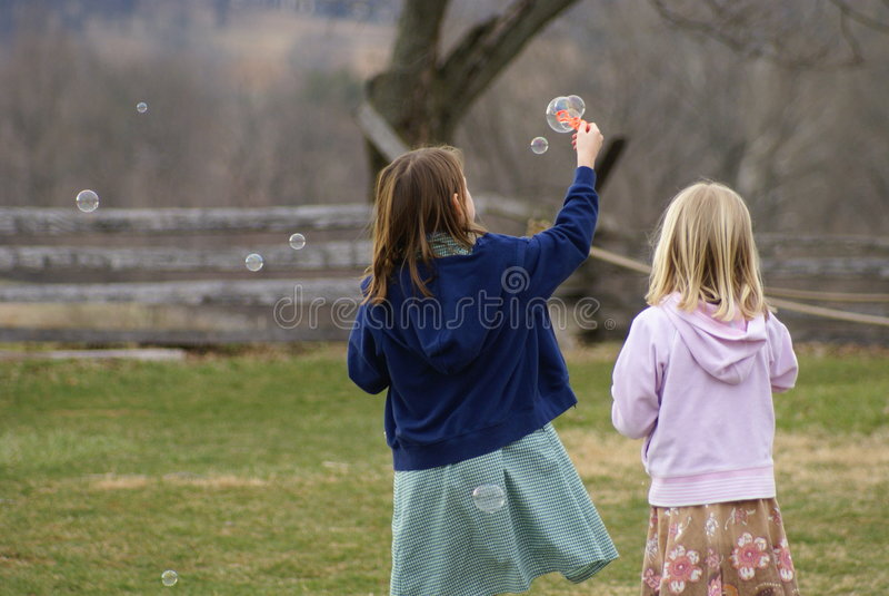 Jugar burbujas foto de archivo libre de regalías