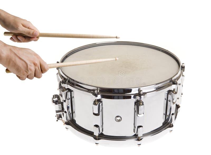 Jugar los tambores de trampa imágenes de archivo libres de regalías