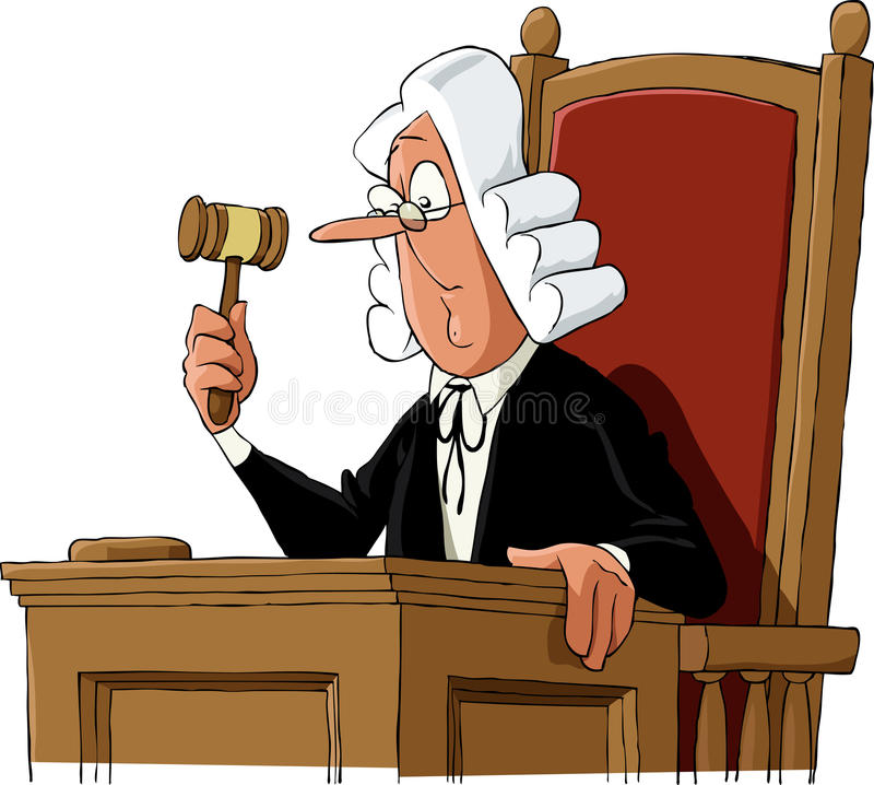 Juge illustration de vecteur