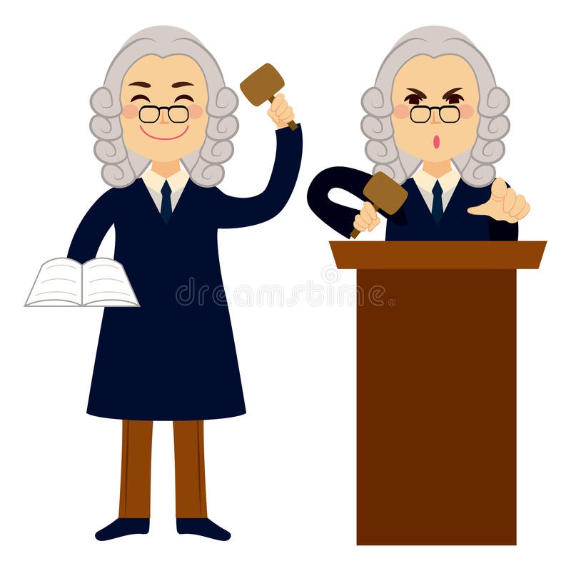 Juge Applying Law illustration de vecteur