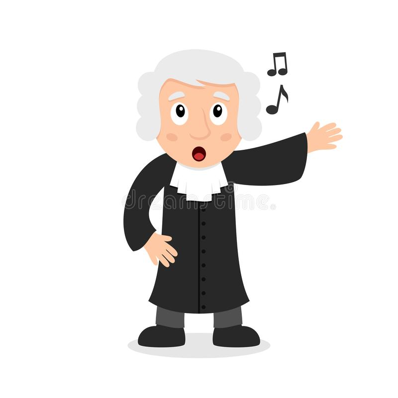 Juge chanteur Cartoon Character illustration libre de droits