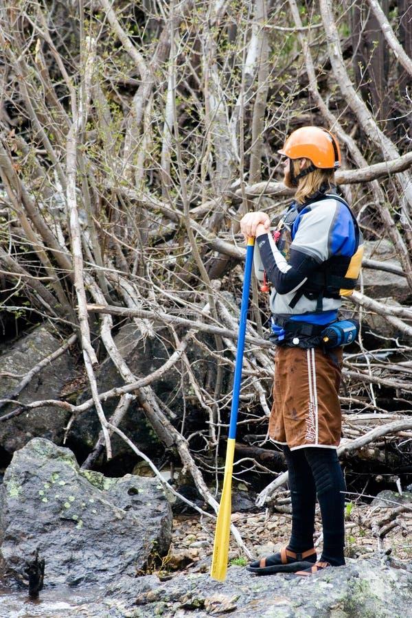 Juge de kayak photo stock