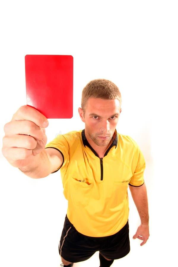 Download Juge Du Football Avec La Carte Photo stock - Image du main, papier: 8653494