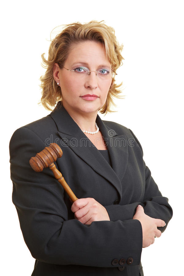 Juge féminin images libres de droits