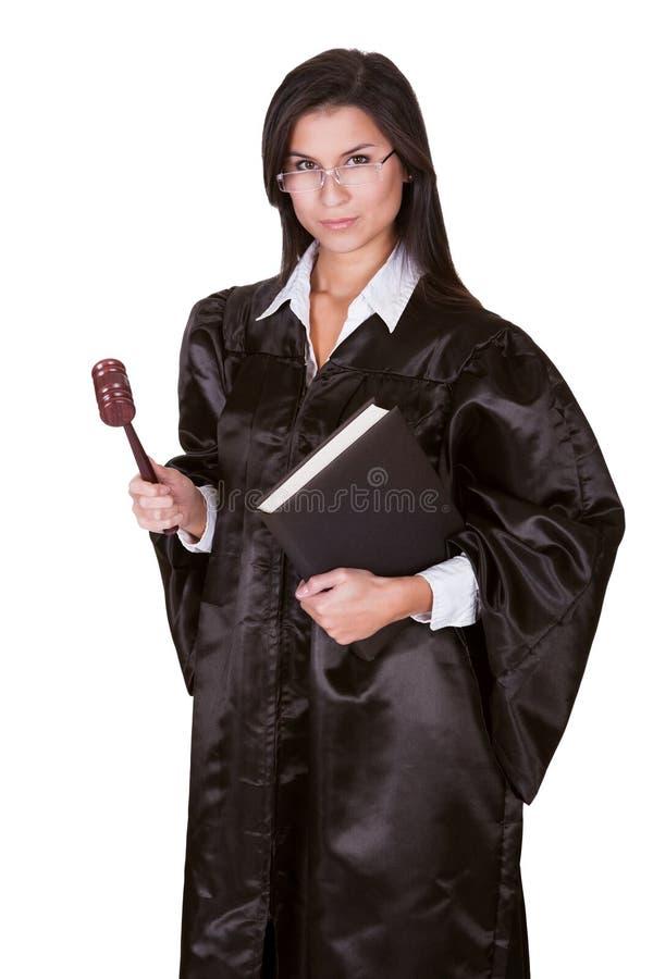Juge féminin dans une robe photographie stock