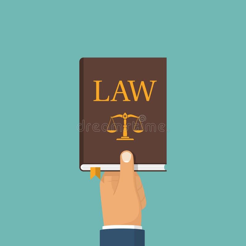 Juge jugeant le livre de loi disponible illustration stock