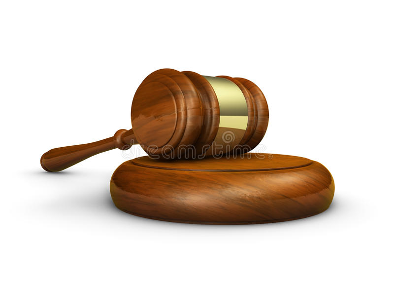 Juge Law Gavel Symbol illustration stock