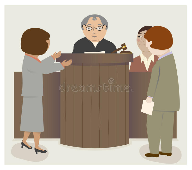 Juge Lawyers Courtroom illustration de vecteur