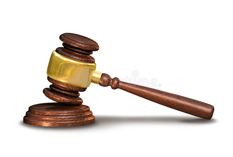 Juge le marteau, concept de justice images libres de droits