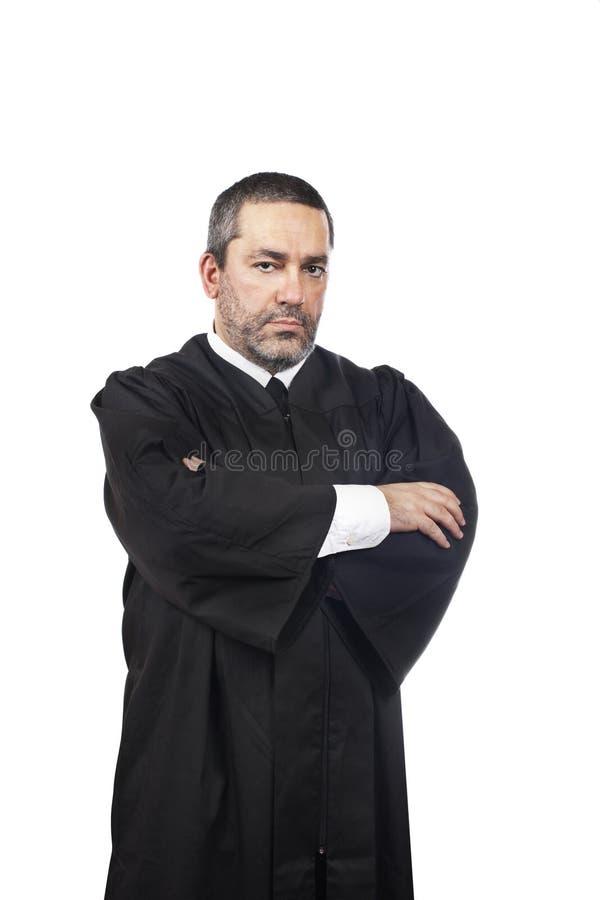 Juge mâle sérieux images libres de droits