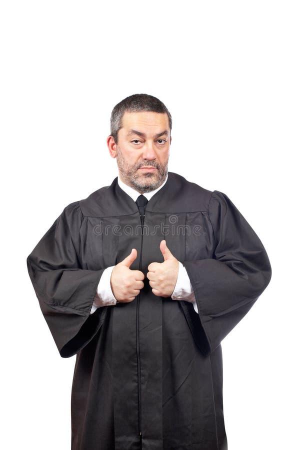 Juge mâle sérieux photo stock