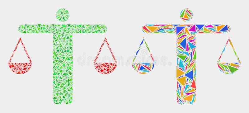 Juge Mosaic Icon de vecteur des triangles illustration stock