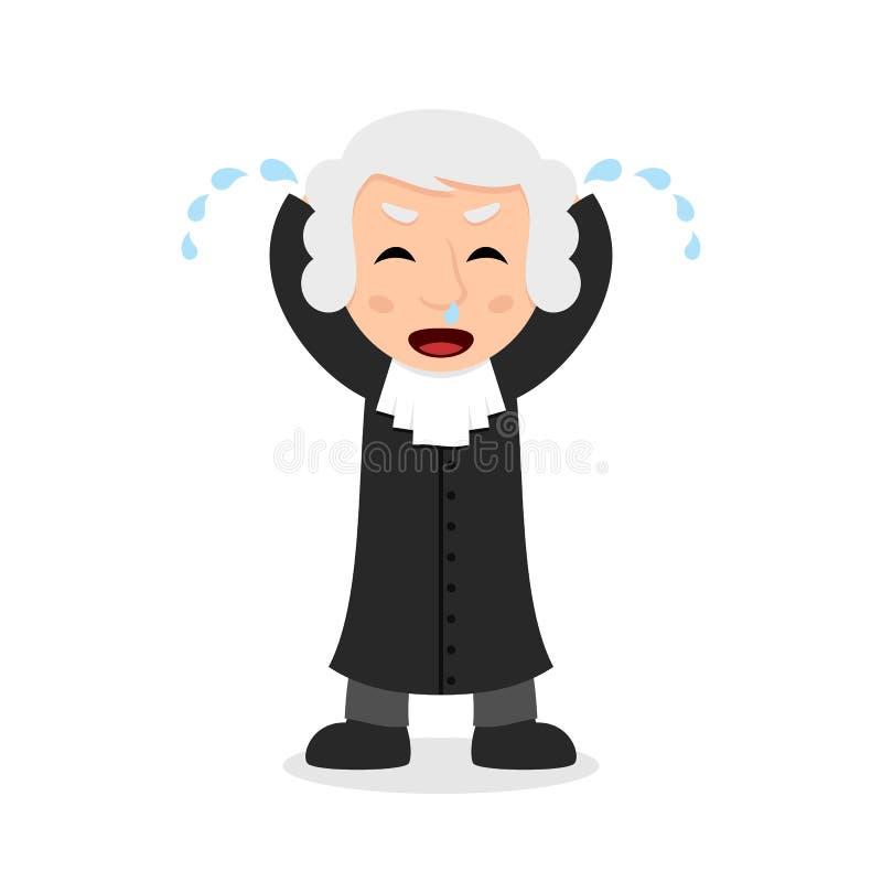 Juge pleurant Cartoon Character illustration libre de droits
