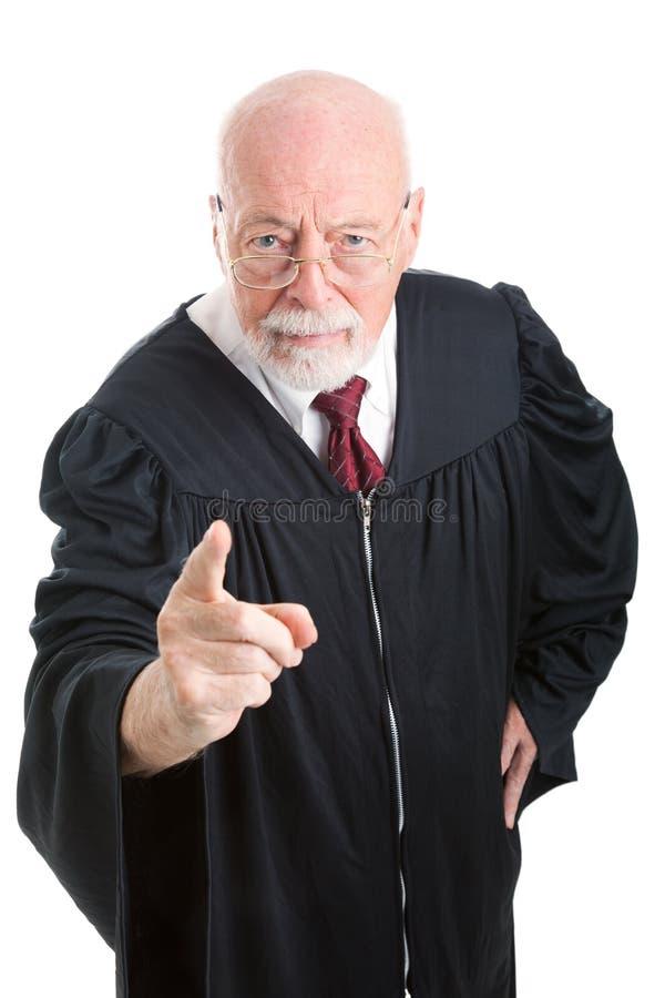 Juge - poupe et réprimande images libres de droits