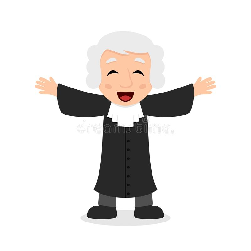 Juge riant Cartoon Character illustration libre de droits
