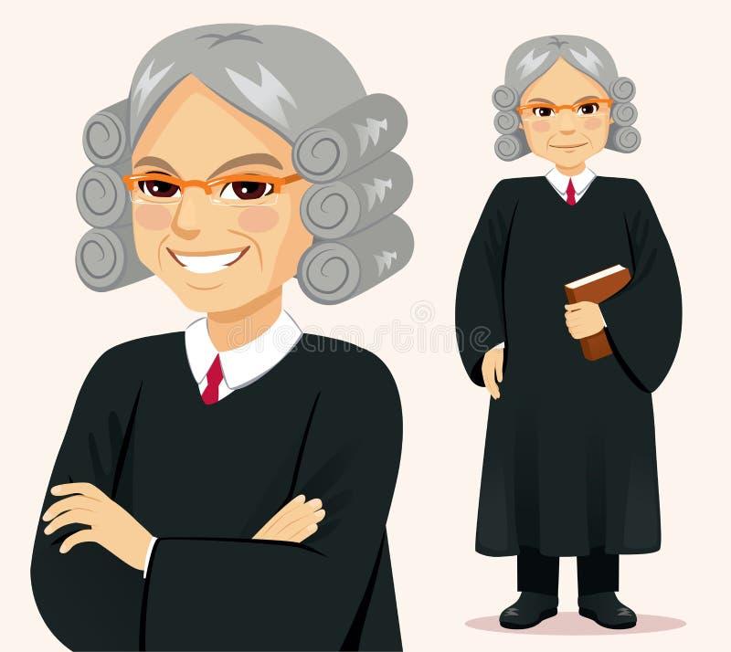 Juge supérieur Man Standing Pose illustration libre de droits