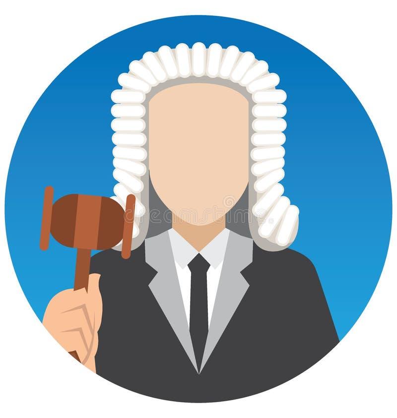 Juge Vector Illustration Icon qui peut facilement modifier ou éditer illustration de vecteur