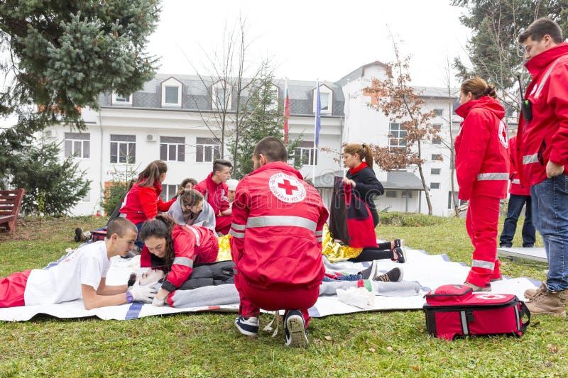 Jugend des roten Kreuzes stockbild