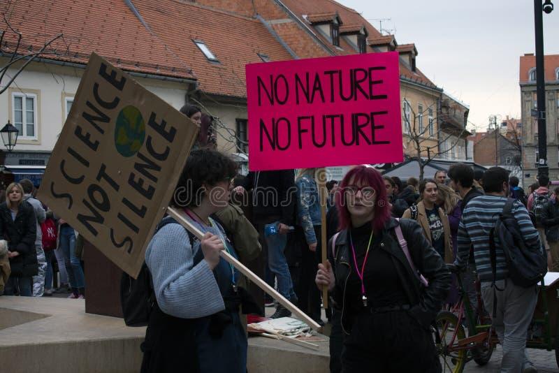 Jugend für climate1 stockbilder