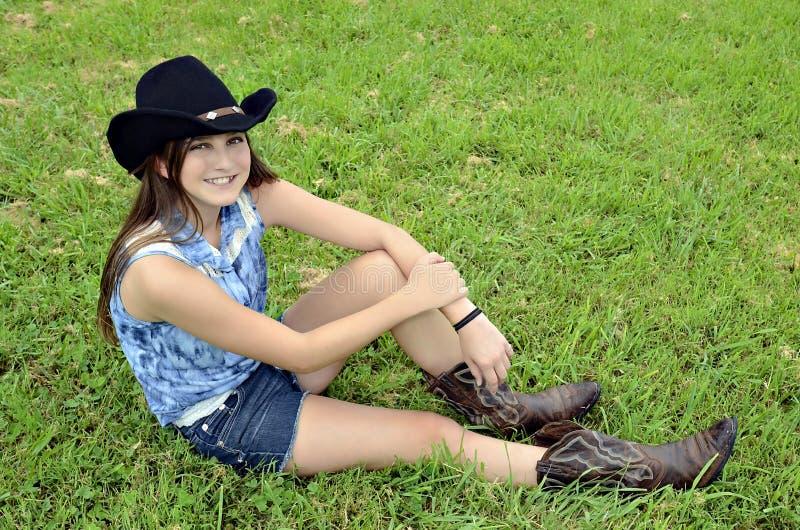 Jugendcowgirl stockfotos