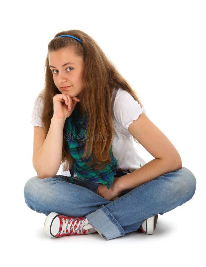 Jugendlich auf Weiß lizenzfreies stockfoto