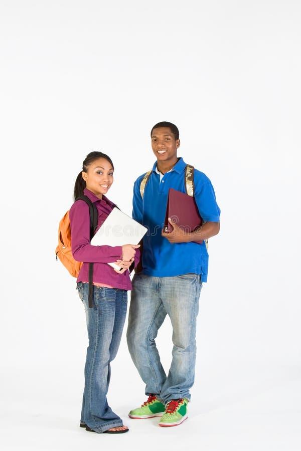 Jugendlich bereiten Sie für Schule - Vertikale vor stockfoto