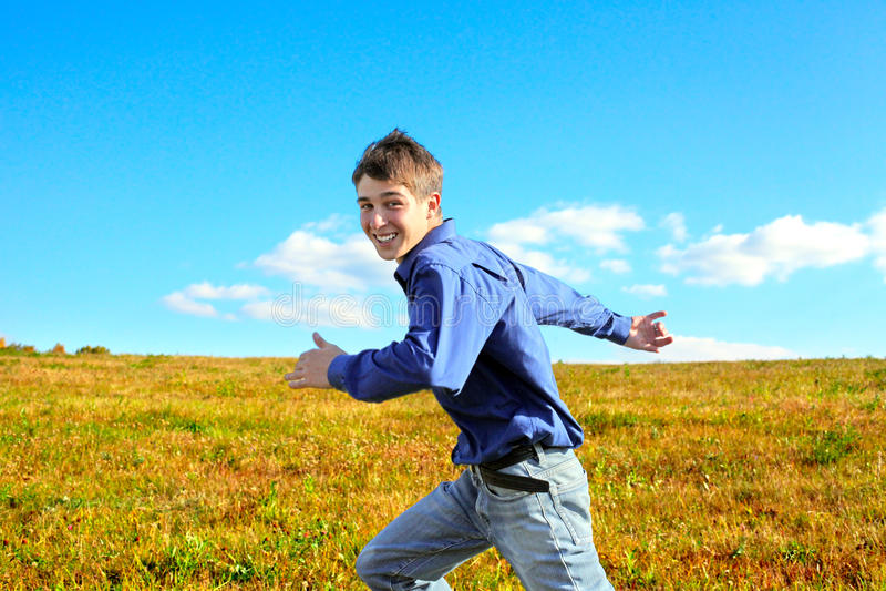 Jugendlich-Betrieb lizenzfreies stockfoto