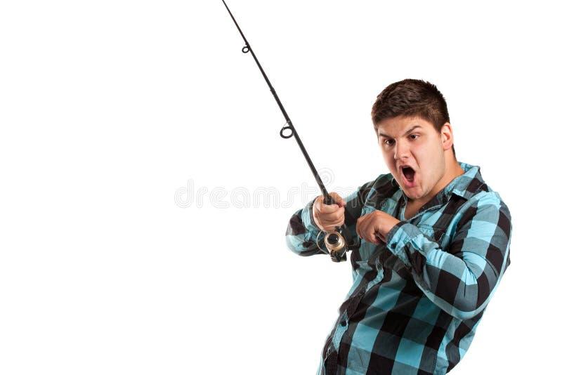 Jugendlich-Fischen lizenzfreies stockfoto