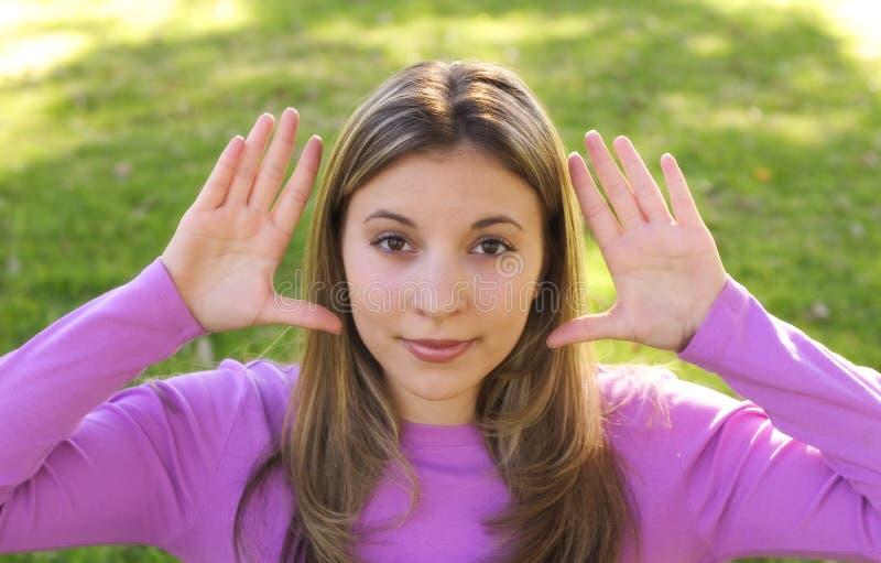 Jugendlich Frau lizenzfreie stockbilder
