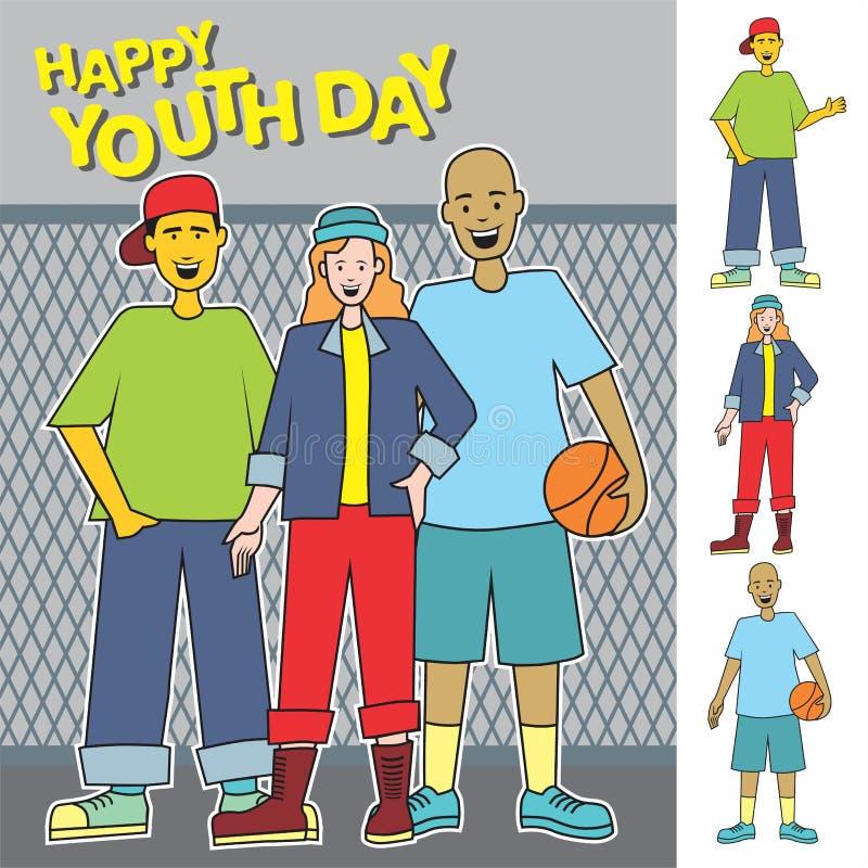 Jugendlich-glücklicher Jugend-Tag lizenzfreie stockbilder