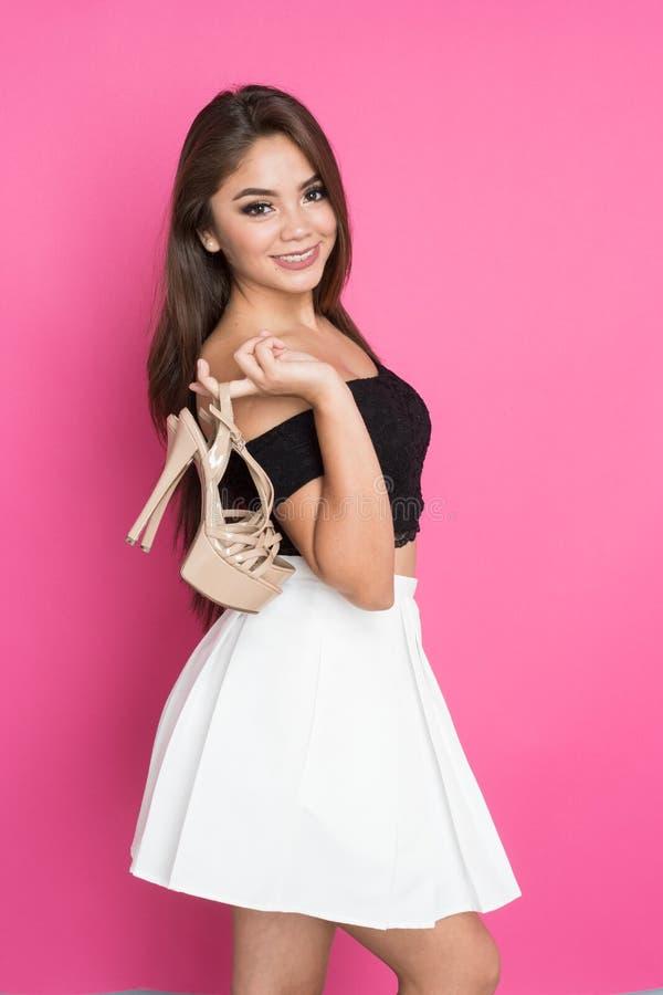 Jugendlich hispanisches Mädchen lizenzfreies stockfoto