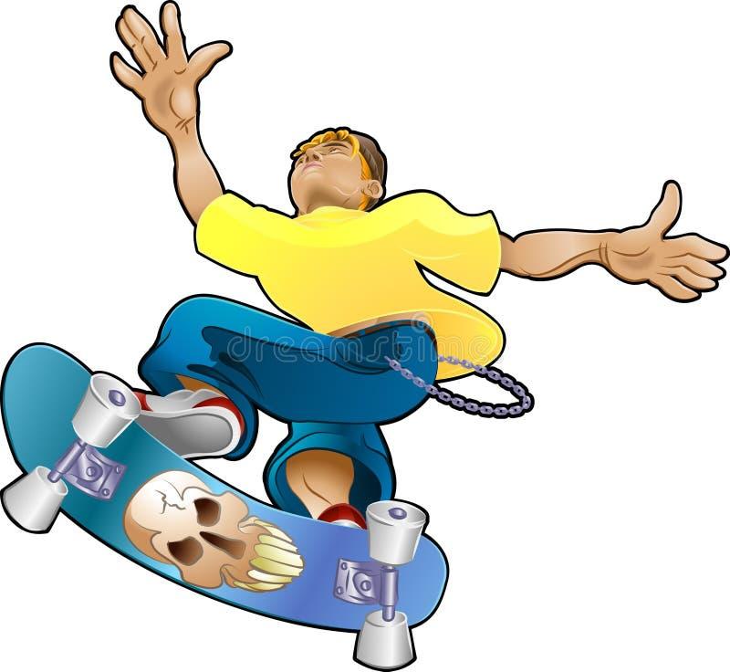 Jugendlich Jugend-Cliquen-Schlittschuhläufer lizenzfreie abbildung
