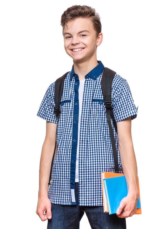Jugendlich Jungenstudent lizenzfreie stockfotos