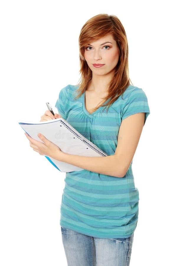 Jugendlich Kursteilnehmermädchen lizenzfreies stockbild