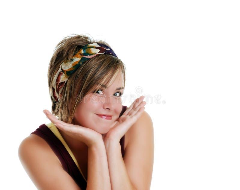 Jugendlich-Lächeln lizenzfreie stockfotos