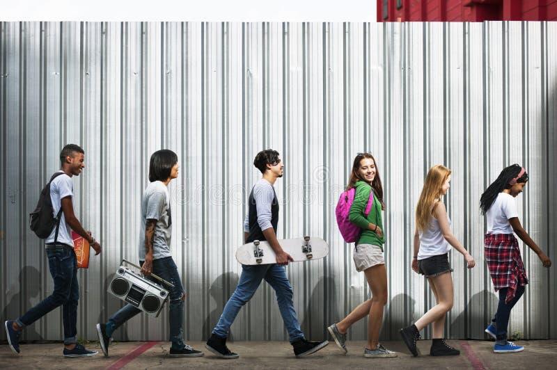Jugendlich-Lebensstil-zufälliges Kultur-Jugend-Art-Konzept stockfotografie