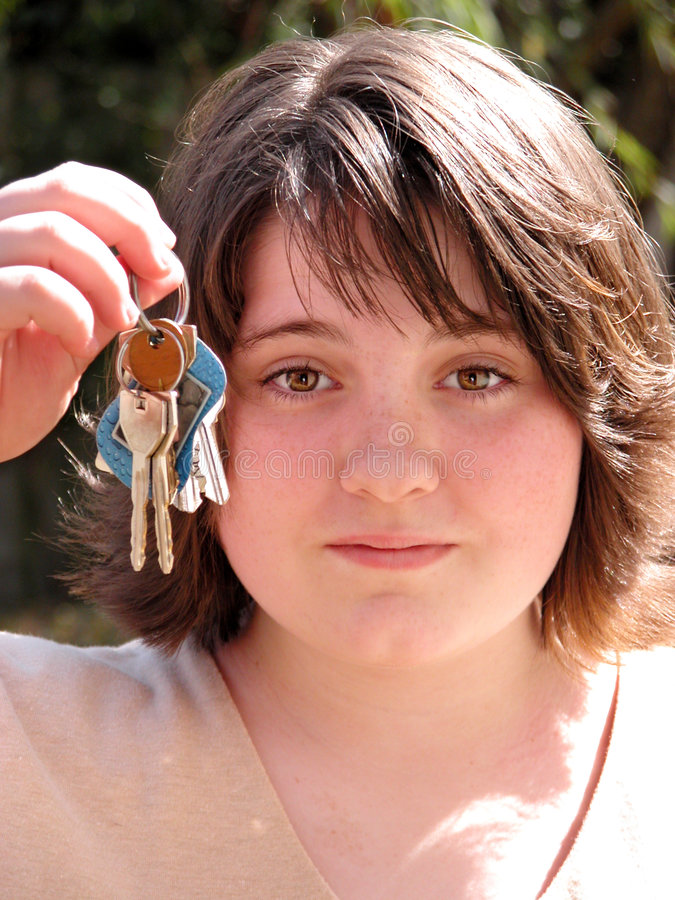 Download Jugendlich Mädchen, Das Bittet Anzutreiben Stockbild - Bild: 42005