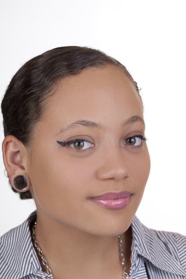 Jugendlich Mädchen des Portraitjungen attraktiven Mischerbes lizenzfreies stockfoto