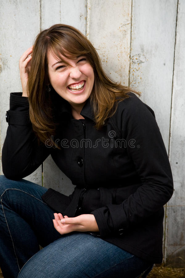 Jugendlich Mädchen-Portrait stockbild