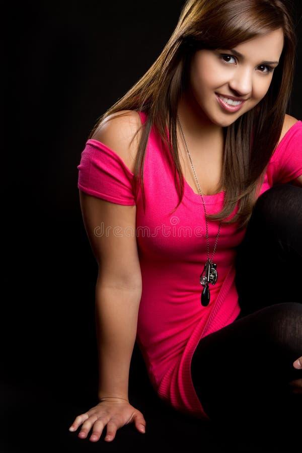 Jugendlich Mädchen-Sitzen lizenzfreies stockfoto