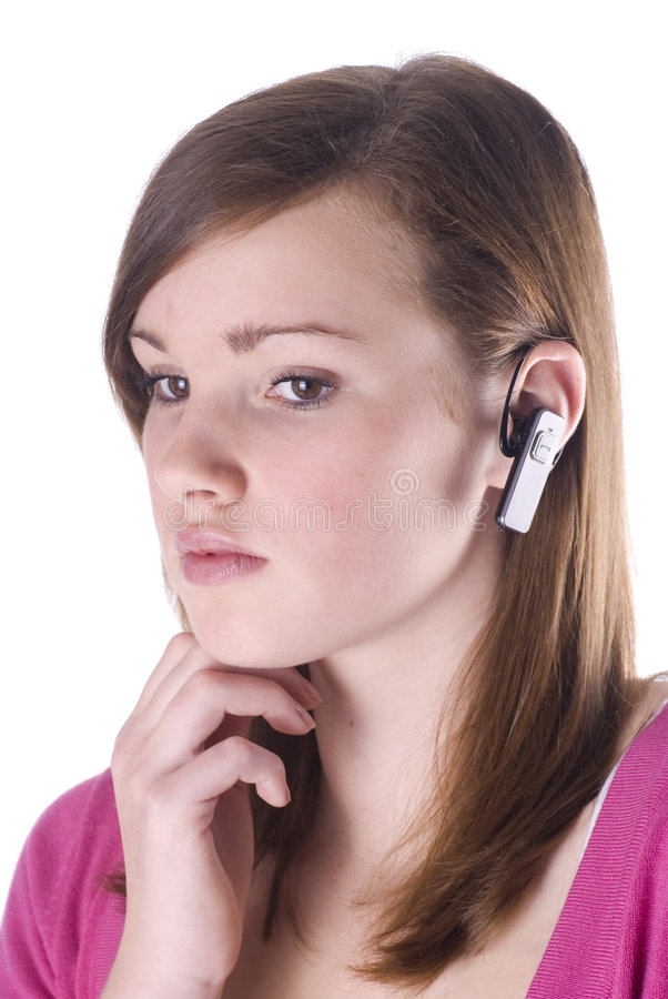 Jugendlich Mädchen am Telefon. stockbild
