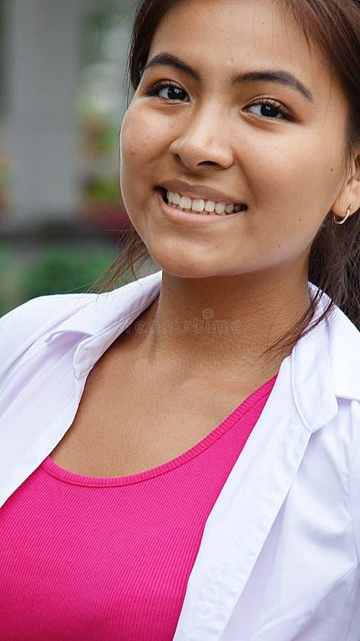 Jugendlich-Mädchen und Glück lizenzfreie stockfotografie