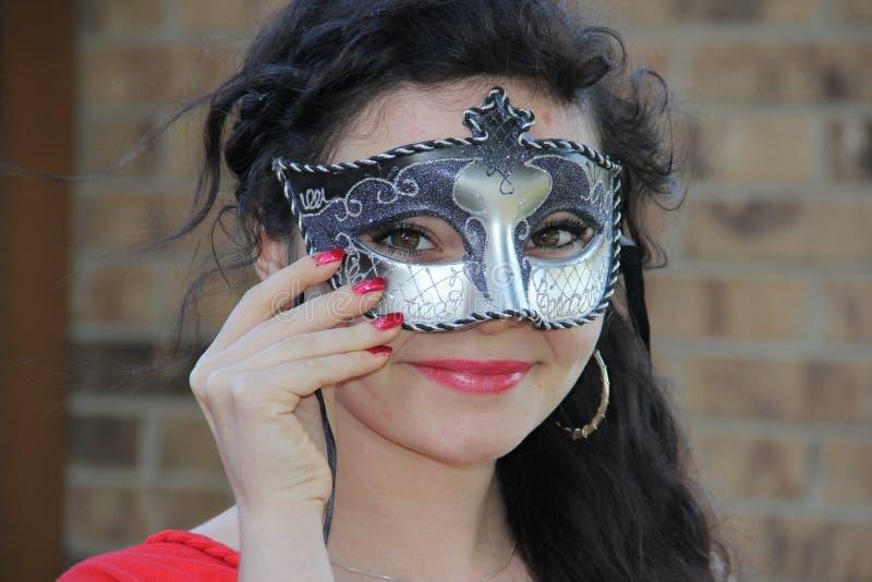 jugendlich maskerade maske stockfoto bild von frau haar 40738432. Black Bedroom Furniture Sets. Home Design Ideas