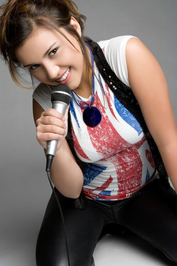Jugendlich Sänger stockfoto