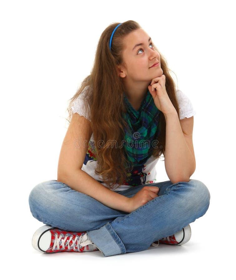 Jugendlich - weiblicher Kursteilnehmer stockbild