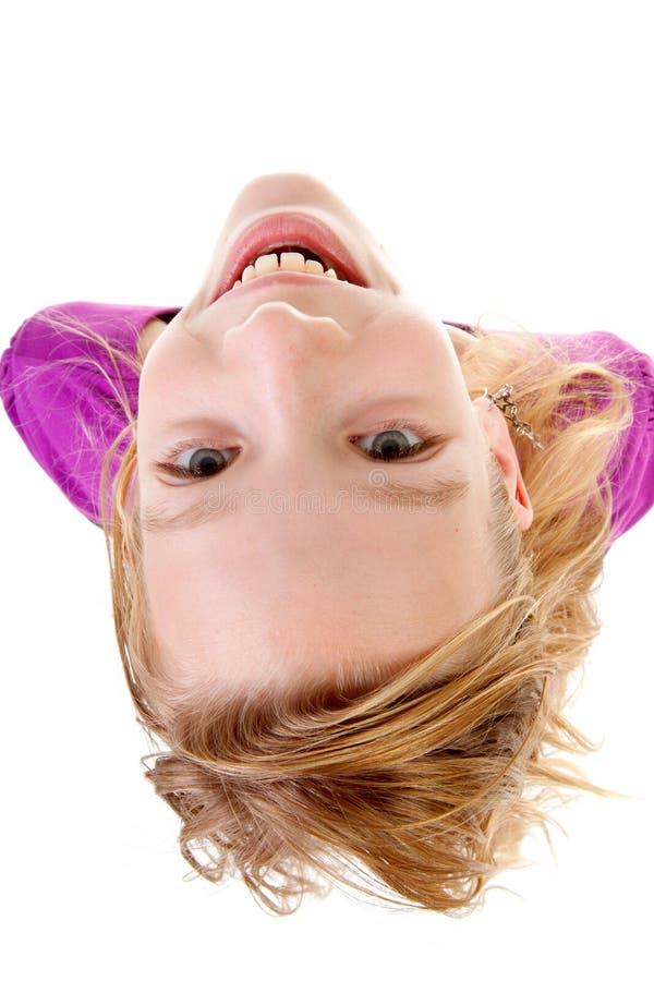 Jugendliche gesehen von oben stockbild