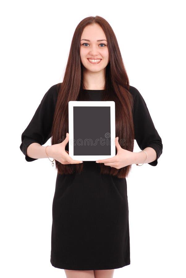 Jugendliche hält Tablet-Computer lizenzfreie stockfotografie