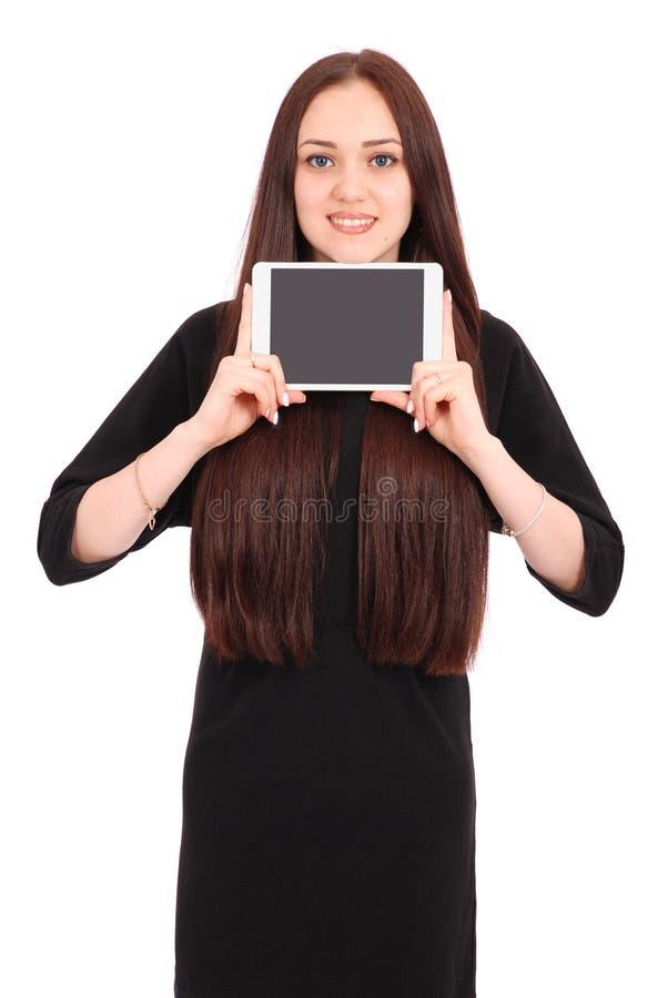 Jugendliche hält Tablet-Computer lizenzfreie stockbilder