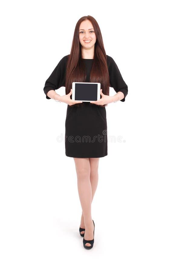 Jugendliche hält Tablet-Computer stockbilder